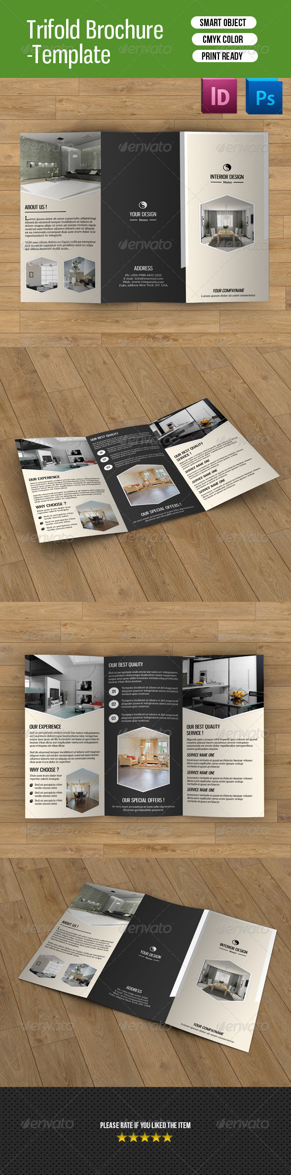 GraphicRiver Trifold Brochure for Interior Design-V48 8558208