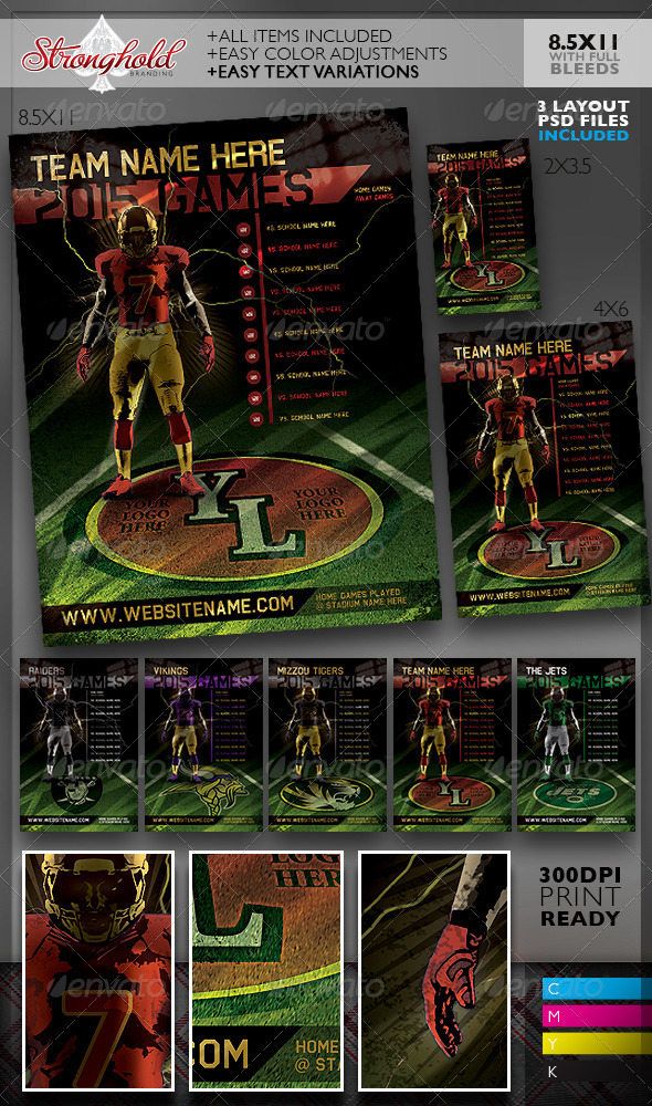 GraphicRiver Football Team Schedule Flyer Templates 8558263