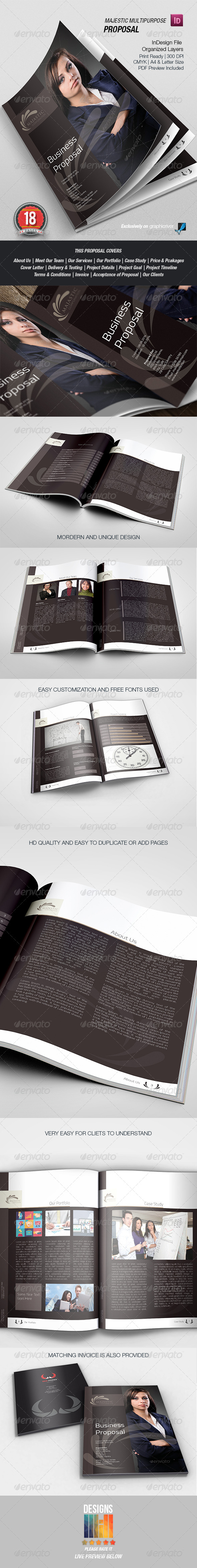 GraphicRiver Majestic Business Proposal 8558527