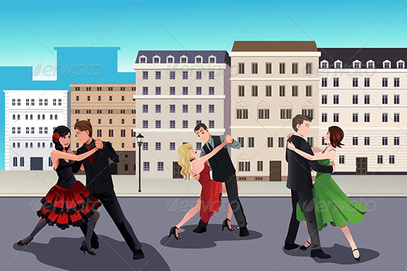 GraphicRiver People Dancing Tango 8558564