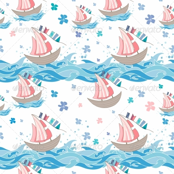 GraphicRiver Sea Seamless Pattern 8558567