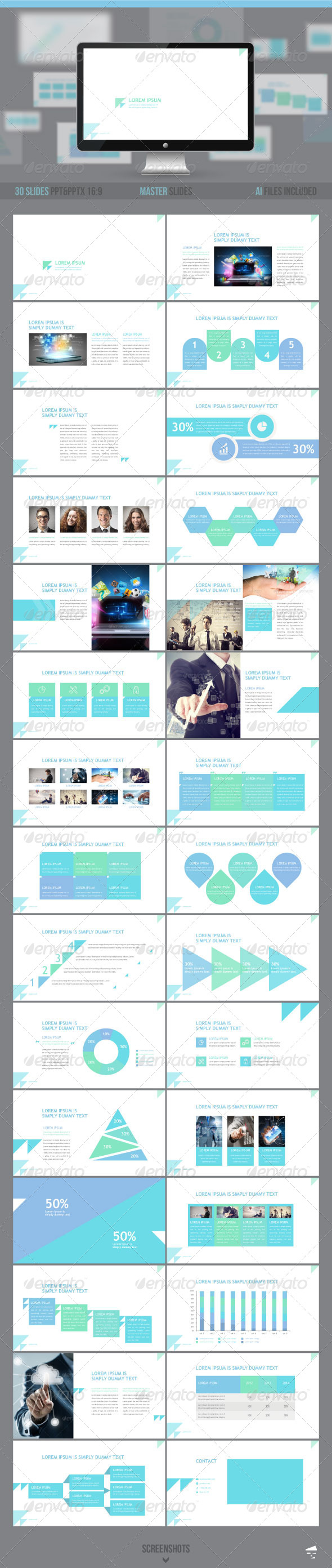 GraphicRiver Professional Business presentation 8509788