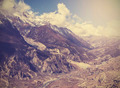 Beautiful vintage mountain landscape, Himalayas in Nepal. - PhotoDune Item for Sale