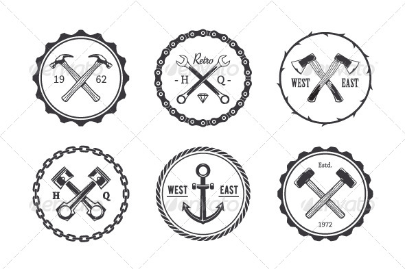 GraphicRiver Circle Crafts Emblems 8558828
