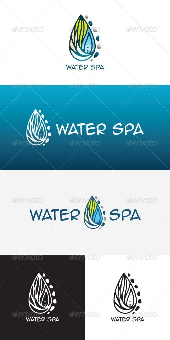 GraphicRiver Water Spa Stock Logo Template 8558838