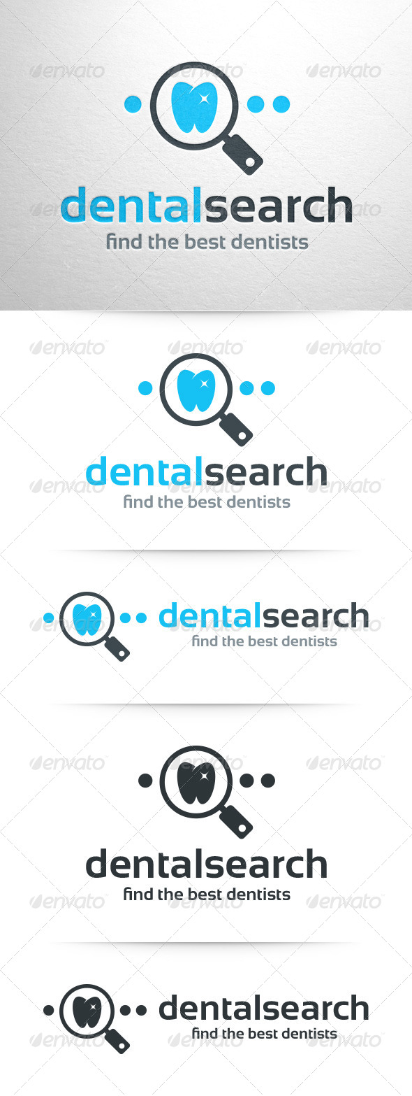 GraphicRiver Dental Search Logo Template 8540598