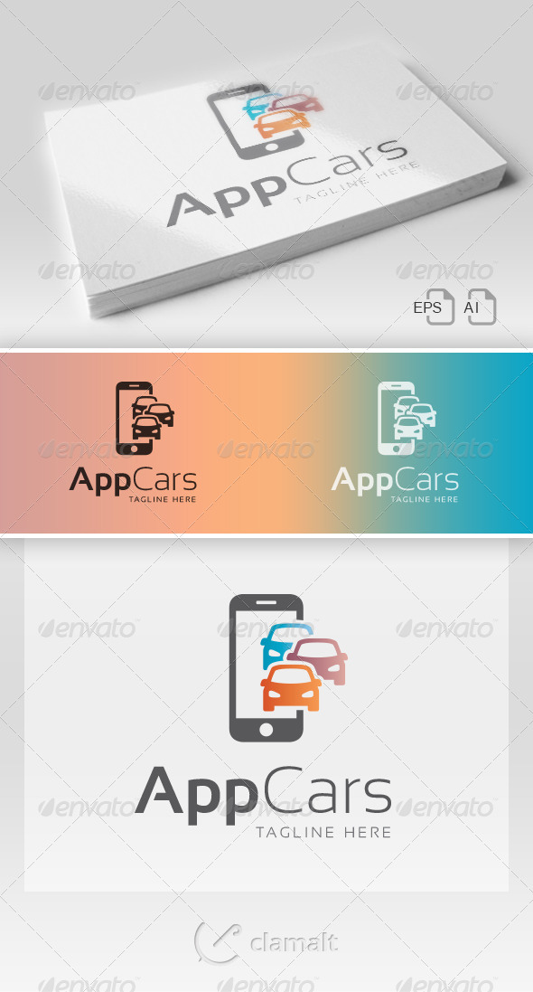 GraphicRiver App Cars Logo 8560399
