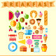 Good Breakfast Flat Icon Set - GraphicRiver Item for Sale