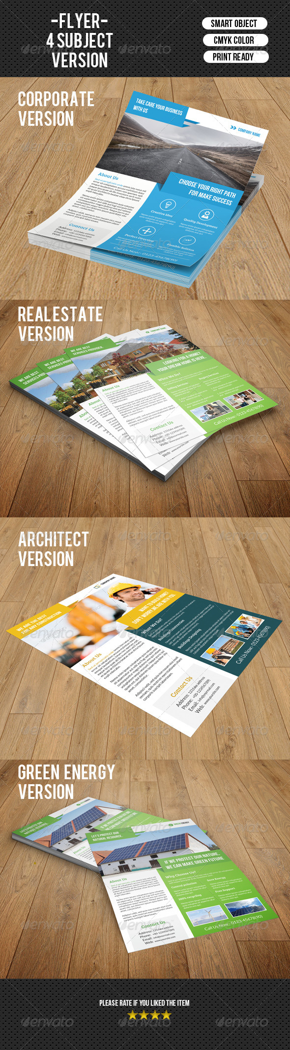 GraphicRiver Corporate Flyer Template-V108 8560530