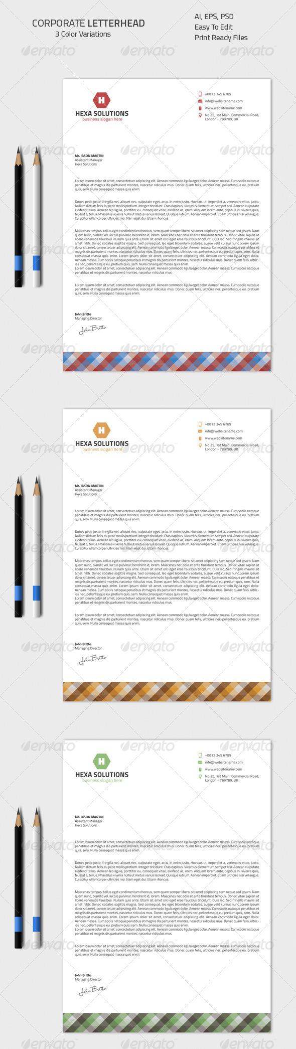 GraphicRiver Corporate Letterhead 04 8560636