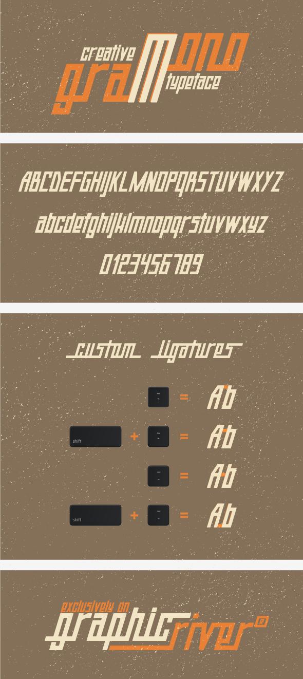 GraphicRiver Monogram Typeface 8560689