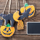 handmade cookies for Halloween and blackboard - PhotoDune Item for Sale