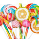 Colorful candies and lollipops isolated - PhotoDune Item for Sale