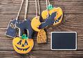 handmade cookies for Halloween and blackboard - PhotoDune Item for Sale