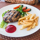 filet of beef grilled with French fries - PhotoDune Item for Sale