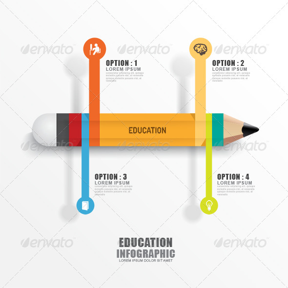 Education Pencil Infographics Creative Template