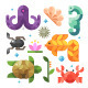 Magic Sea Color Flat Icons - GraphicRiver Item for Sale