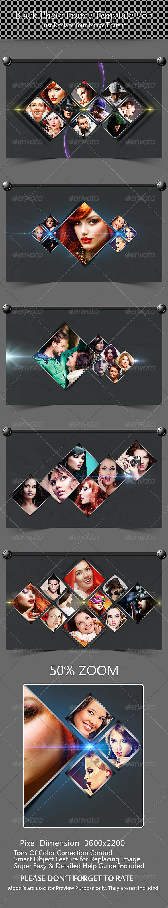 GraphicRiver Black Photo Frame Template V01 8560823