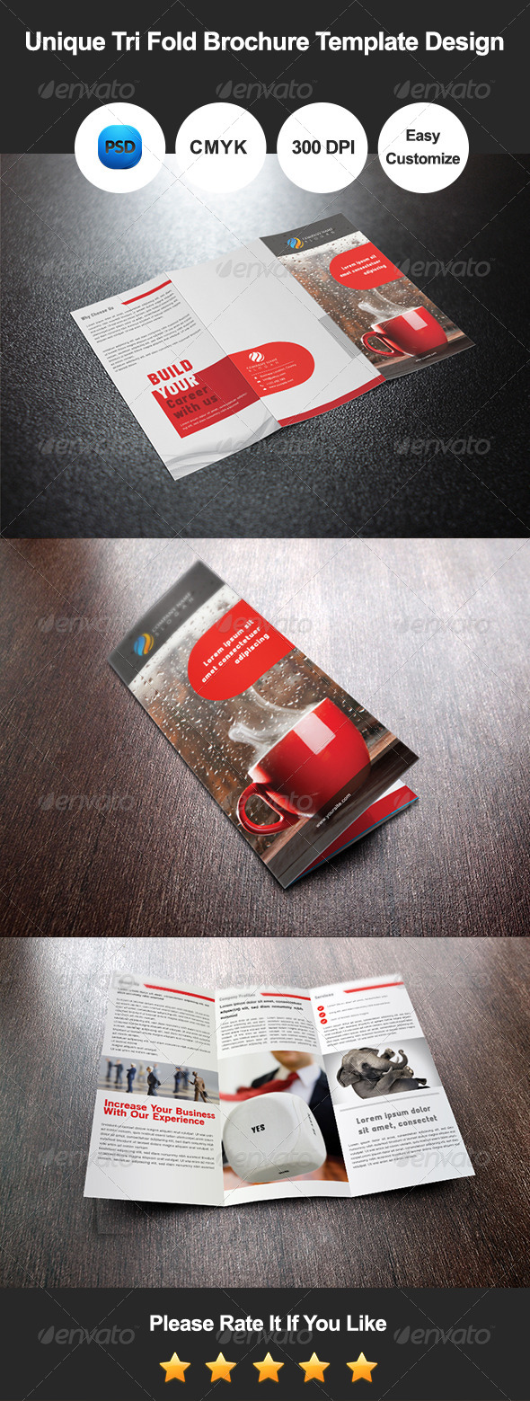 GraphicRiver Tri Fold Brochure Template Design 8560827