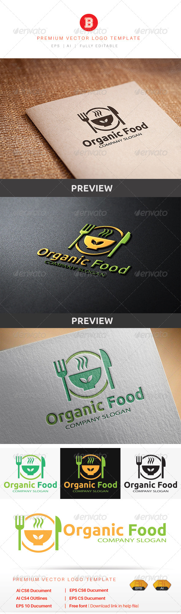 GraphicRiver Organic Food 8560865