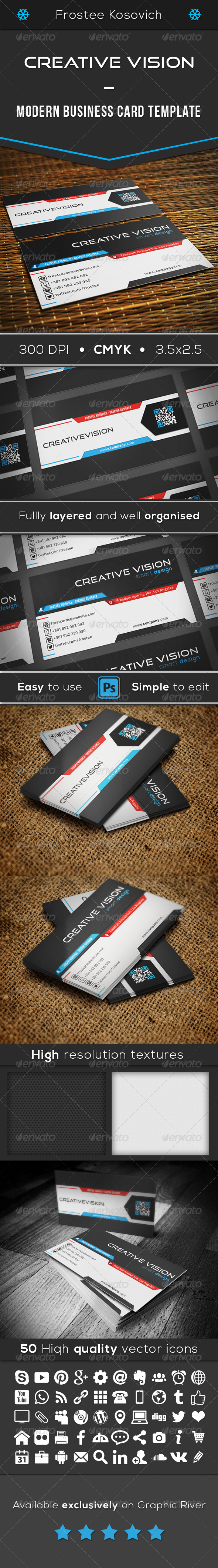 GraphicRiver Creative Vision Modern Business Card Template 8542946