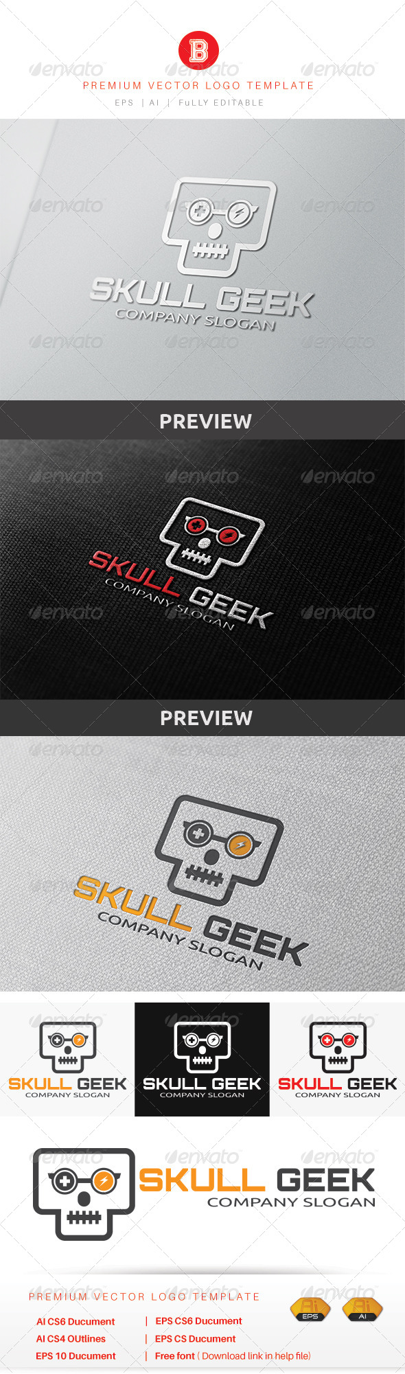 GraphicRiver Skull Geek 8560871