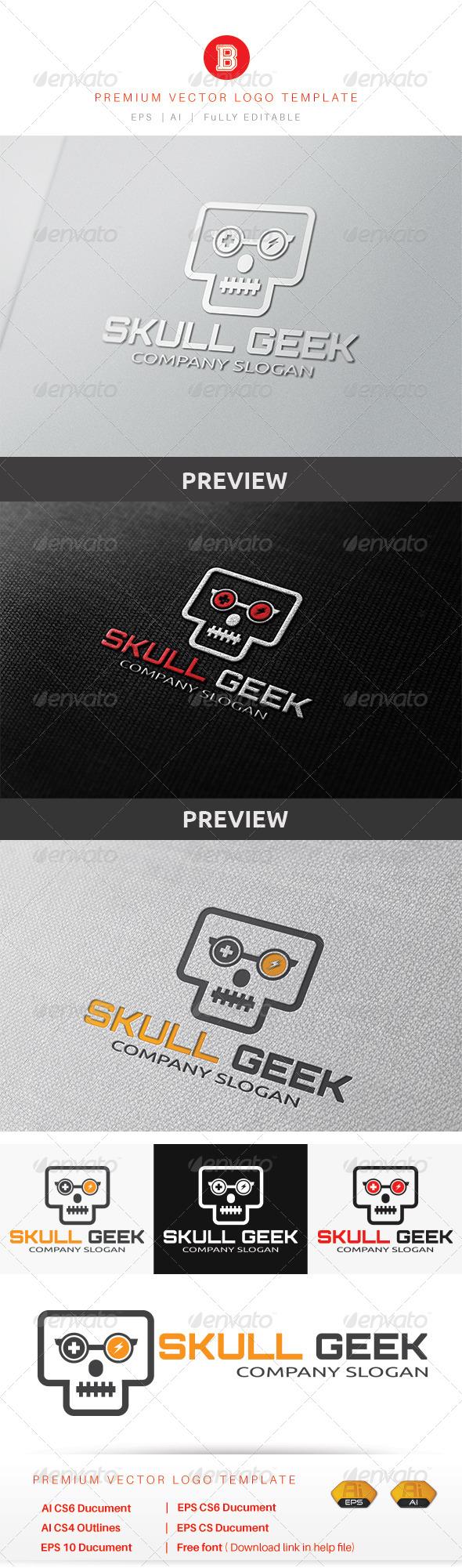 GraphicRiver Skull Geek 8560871