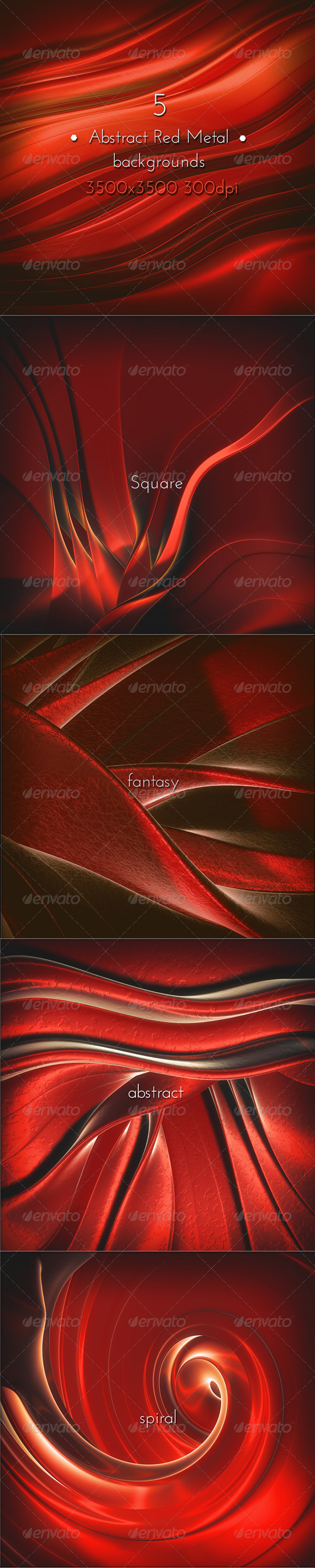 GraphicRiver Abstract Fantasy Red Metal 8560880