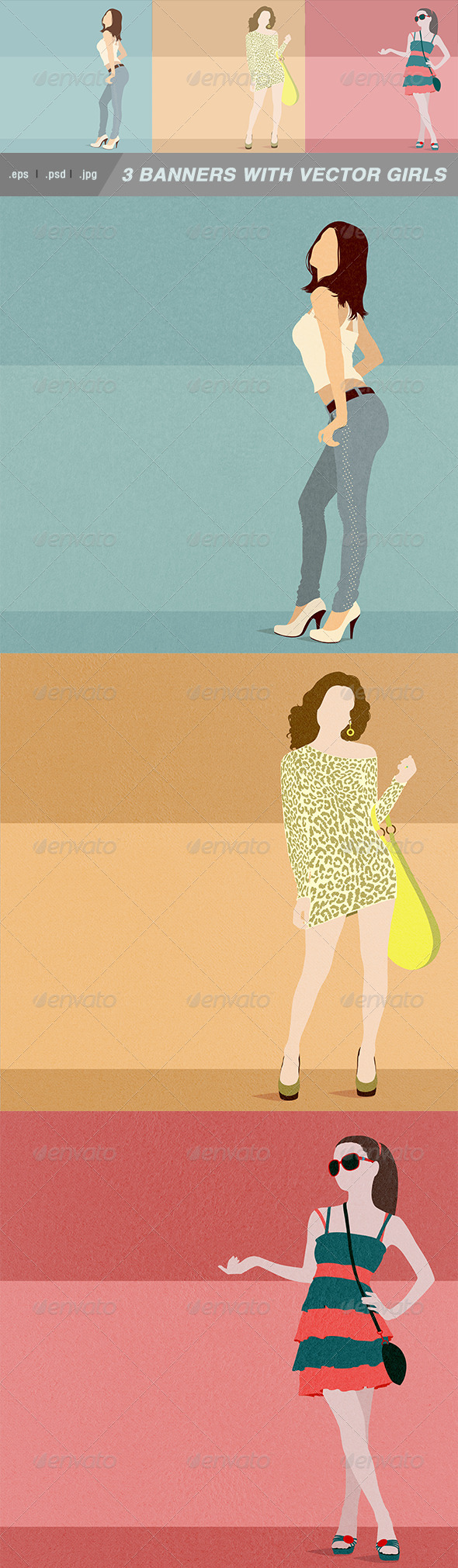 GraphicRiver Shopping Girls 8560906