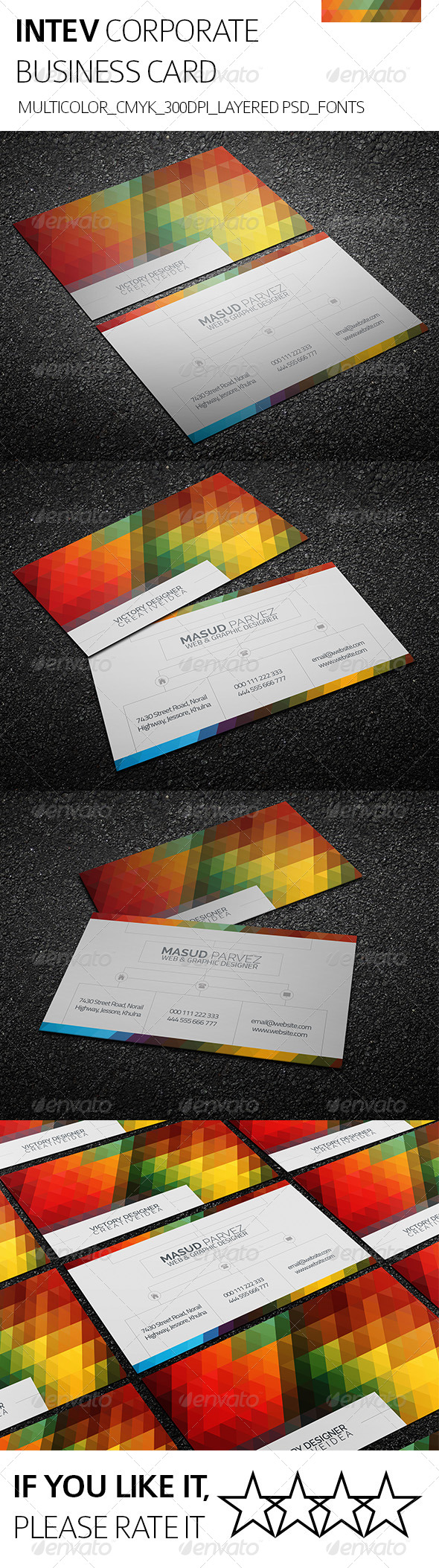 GraphicRiver Intev & Corporate Business Card 8560913