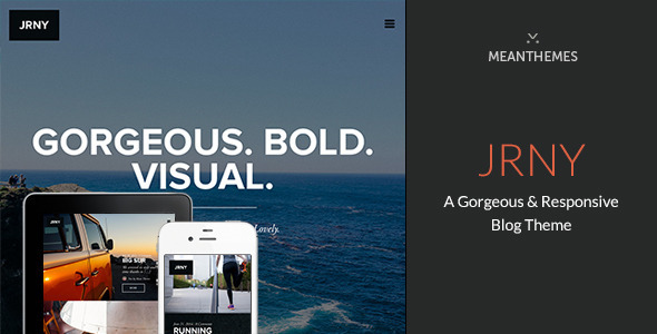 JRNY: A Gorgeous & Responsive WordPress Blog Theme - Personal Blog / Magazine