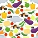 Healthy Food Seamless Background Pattern - GraphicRiver Item for Sale