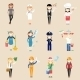 Girl Characters in Professional Clothing - GraphicRiver Item for Sale