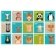 Icons of Animals and Pets in Flat Style - GraphicRiver Item for Sale