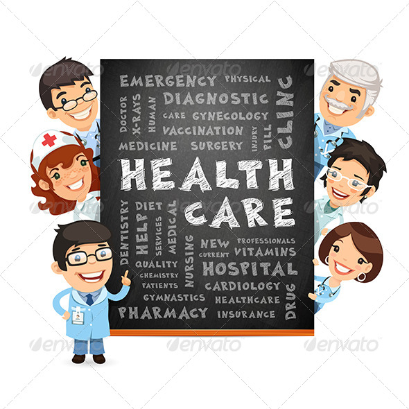 GraphicRiver Doctors Presenting Health Care Poster 8552128