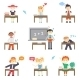 School Boys and Girls - GraphicRiver Item for Sale
