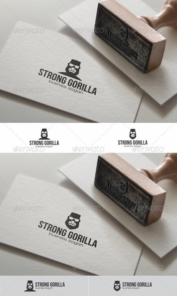 GraphicRiver Strong Gorilla Head Logo Template 8561123