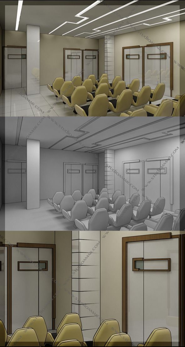 3DOcean Waiting Area Hall 3D 130 8561216