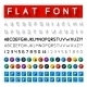 Flat Font - GraphicRiver Item for Sale
