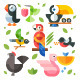 Color Flat Icon Magic Birds - GraphicRiver Item for Sale