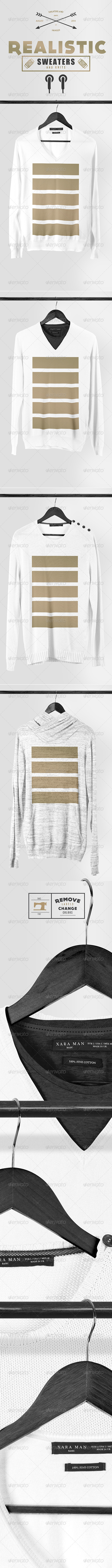 GraphicRiver Realistic Sweaters & Knits Mock-up Pack 8561366