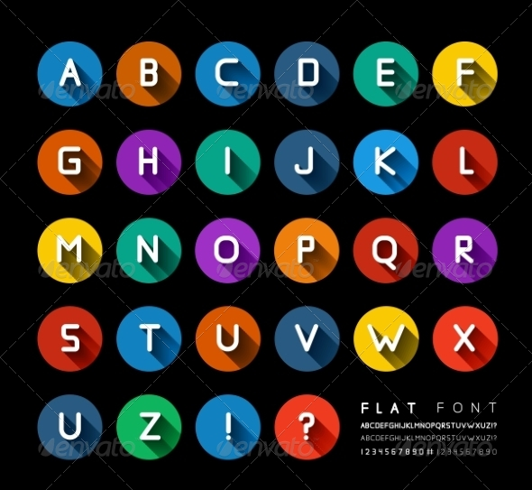 GraphicRiver Flat Font 8561506