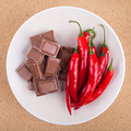 Fresh chili peppers and chocolate - PhotoDune Item for Sale