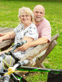 Happy Elderly Couple Relaxing - PhotoDune Item for Sale