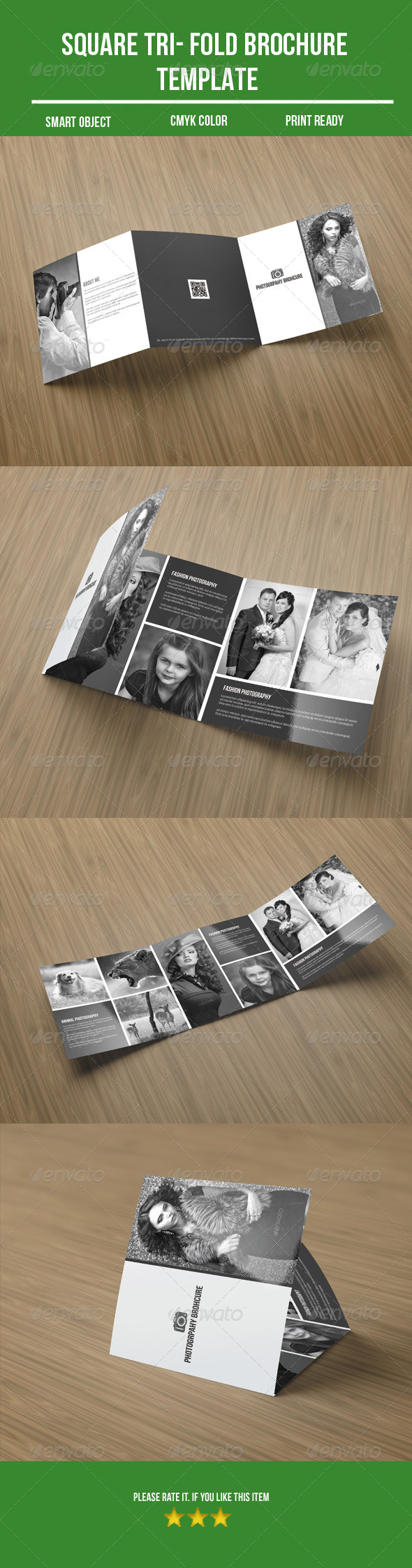 GraphicRiver Square Tri- fold Photography Brochure 8561824
