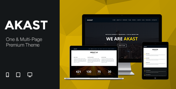 ThemeForest Akast One & Multi-Page Premium Theme 8465209