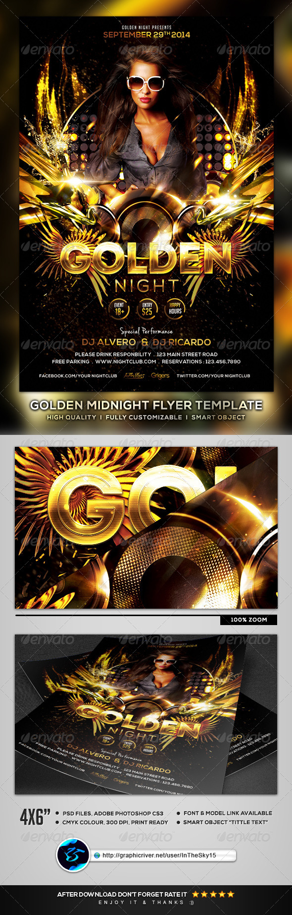 GraphicRiver Golden Night Flyer Template 8561968