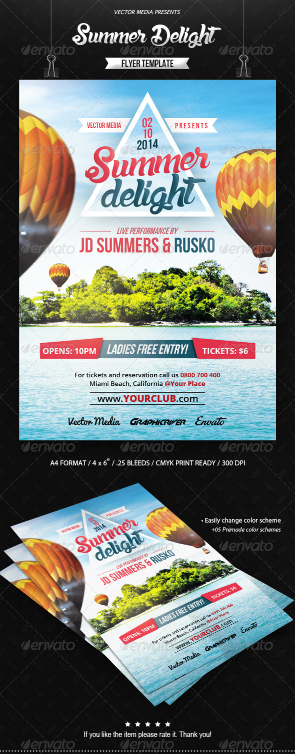 GraphicRiver Summer Delight Flyer 8561983
