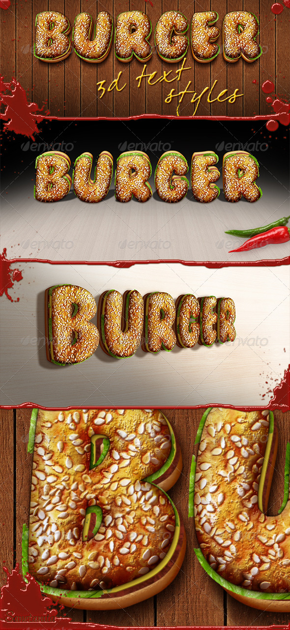 GraphicRiver 3D Burger Styles 8561994