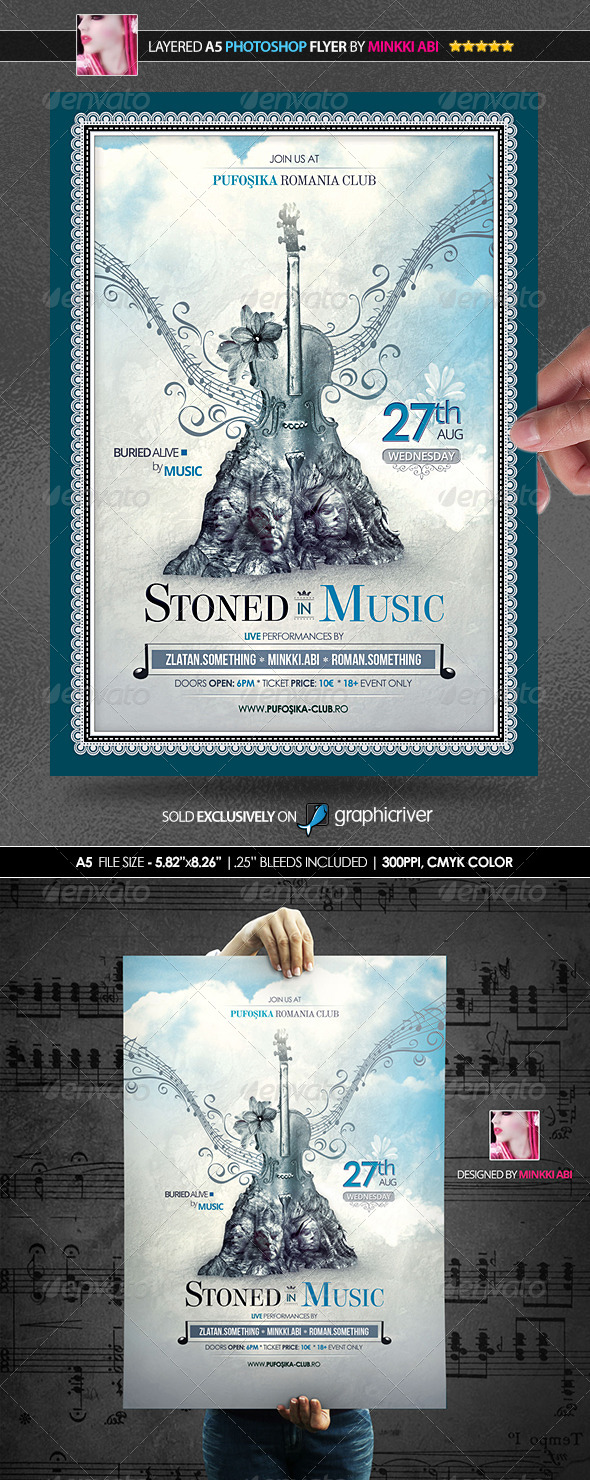 GraphicRiver Stoned In Music Poster Flyer 8562010